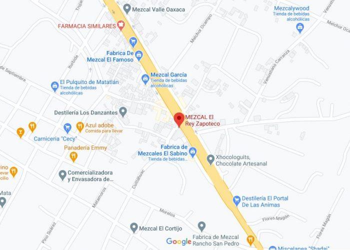 Mapa Mezcal Rey Zapoteco